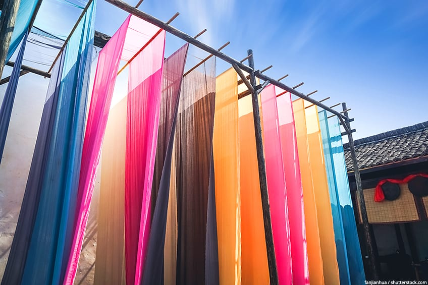 fabric dyeing colors
