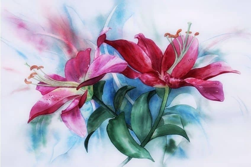 painting inspiration flowers