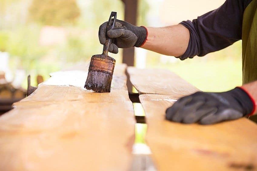 best brush for staining wood decks