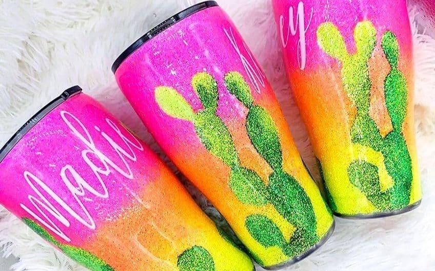 glitter epoxy tumbler
