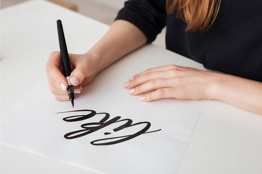 learning to write calligraphy