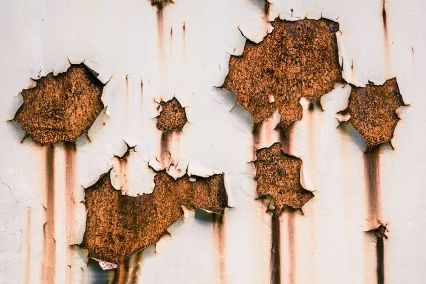 rusted metal paint