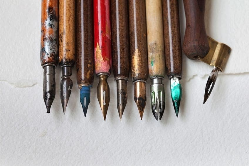 types of calligraphy pens