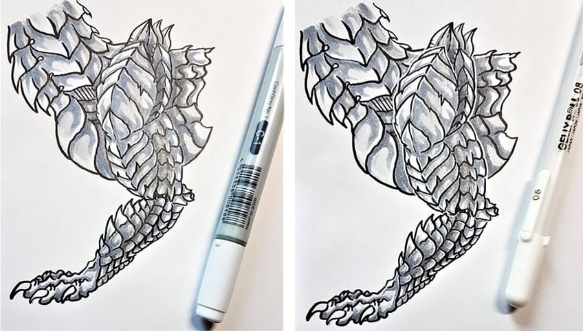 drawing dragon scales 4