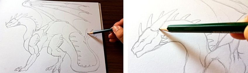 how to draw a dragon 1