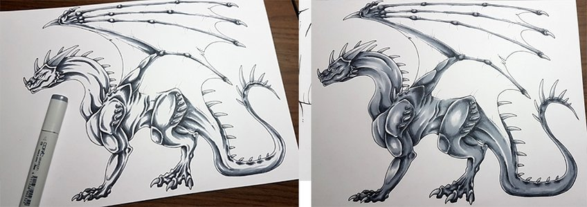 how to draw a dragon 10