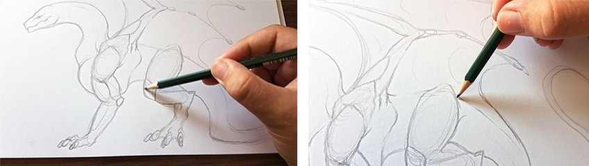 how to draw a dragon 2