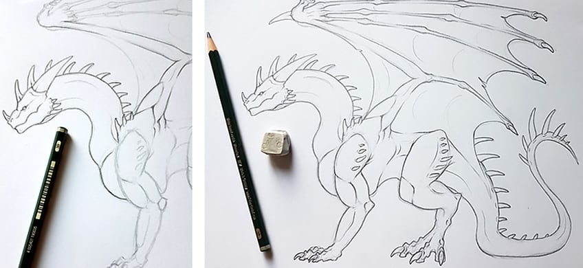 how to draw a dragon 5