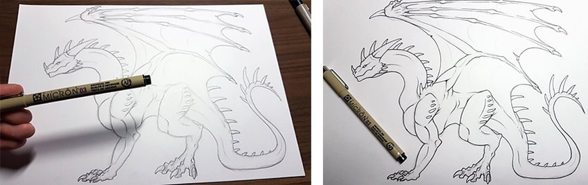 how to draw a dragon 6