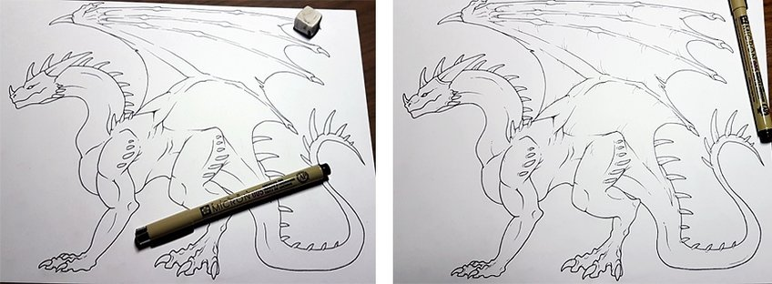 how to draw a dragon 7