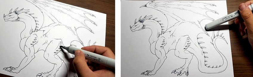 how to draw a dragon 8
