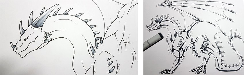 how to draw a dragon 9