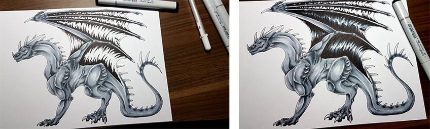 how to draw a dragons 2