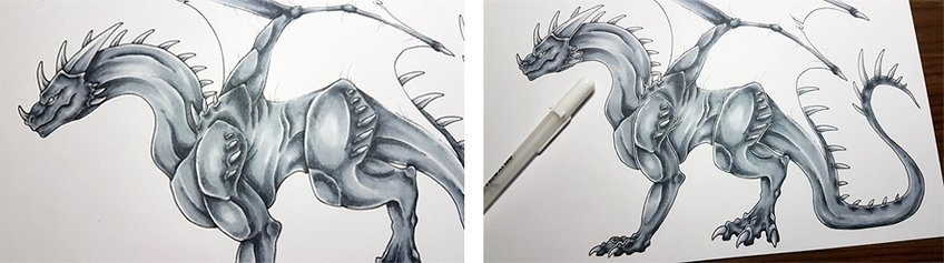 how to draw a dragons