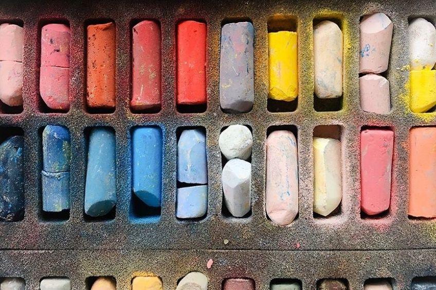 soft pastels artwork