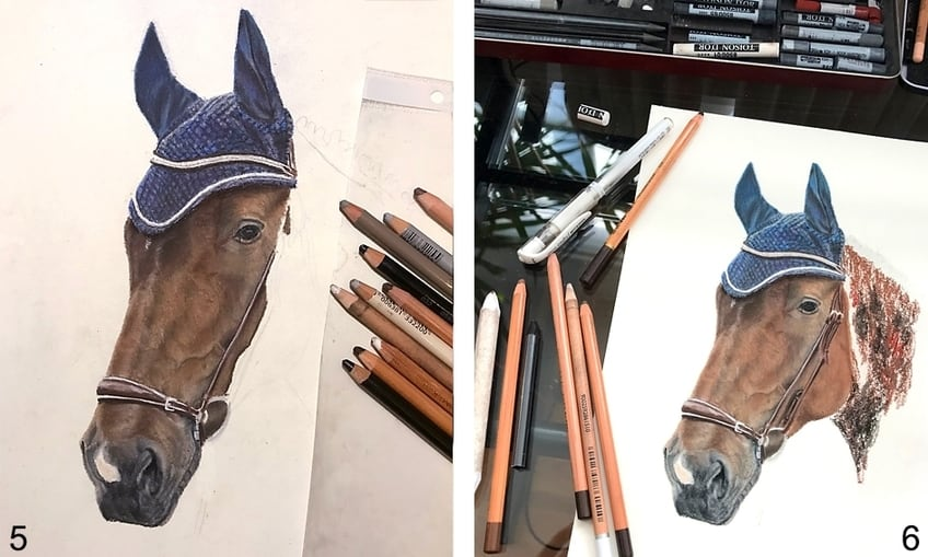 step to draw a horse