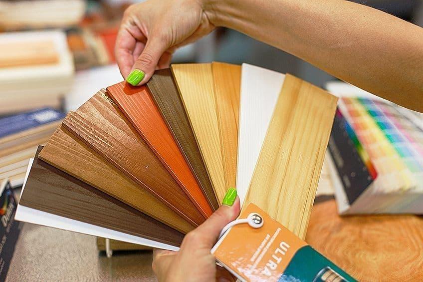 wood paint options