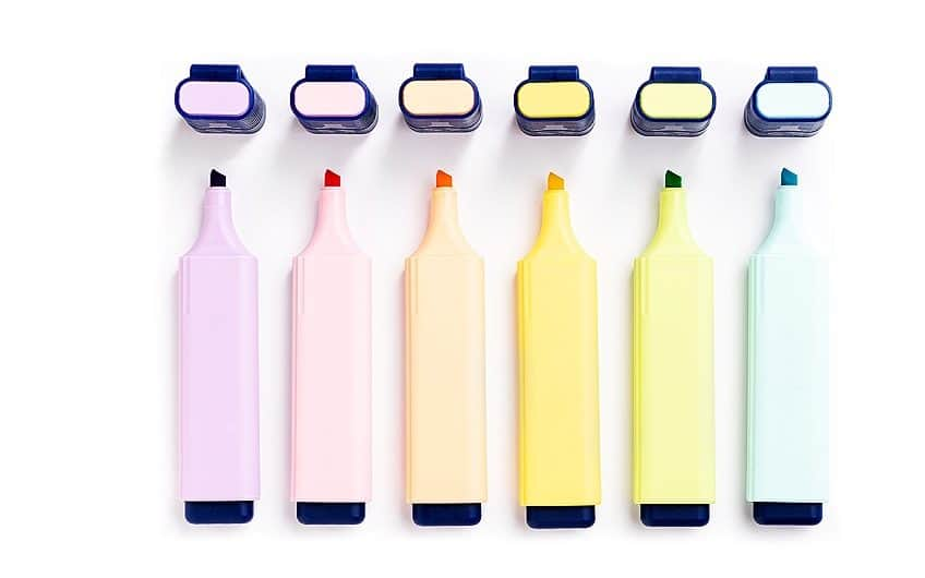 best pastel highlighters