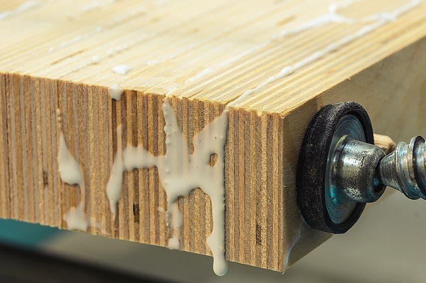 removing wood glue