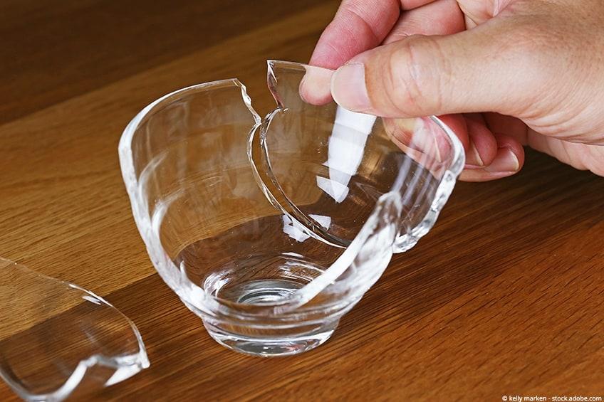 gluing glass