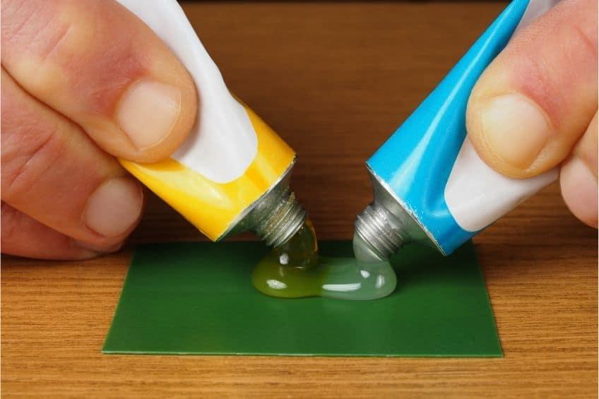two part plastic glue