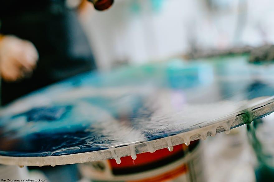 using epoxy resin