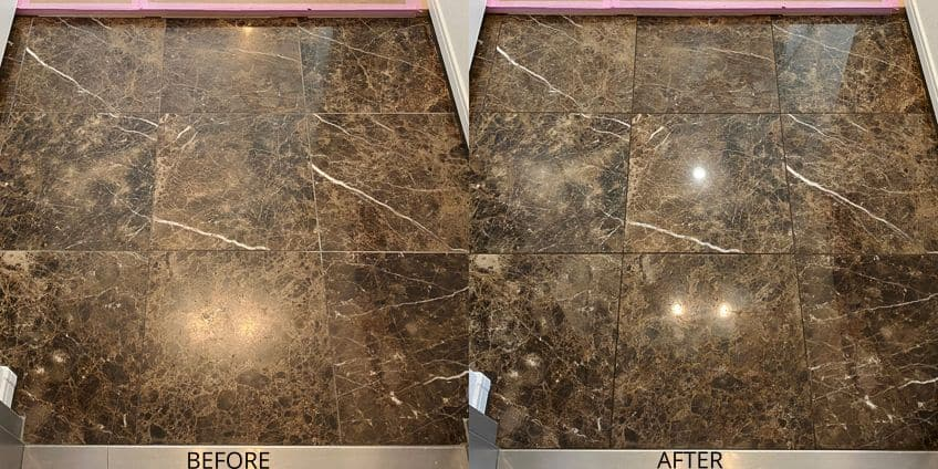 Before and After Granite Sealers