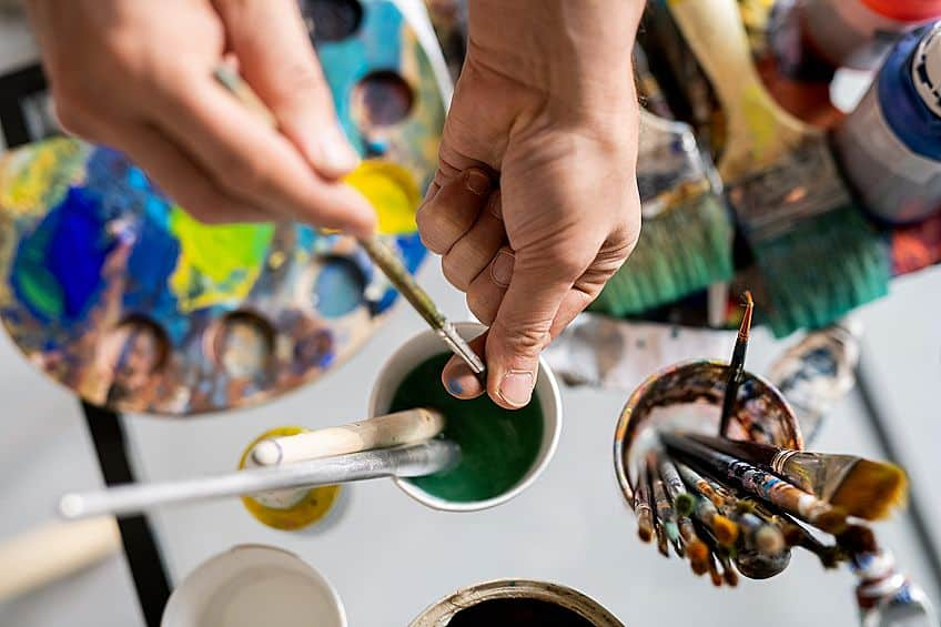 Cleaning Oil Paint Colors off Brushes