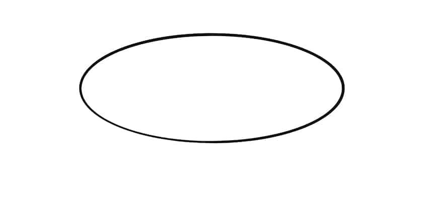 Swan Drawing Step 1
