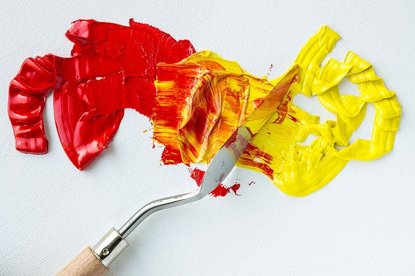 Using a Palette Knife for Oil Paint Colors