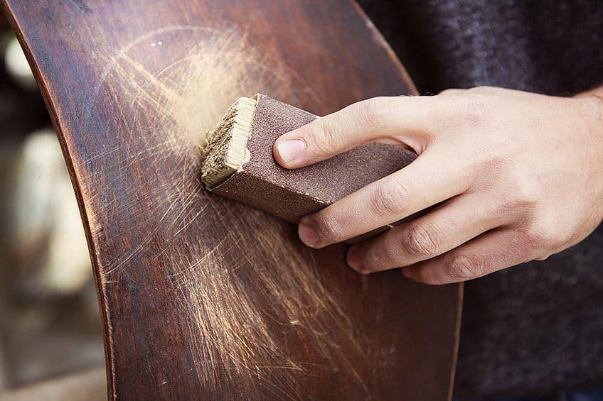 Sanding Distressed Wood