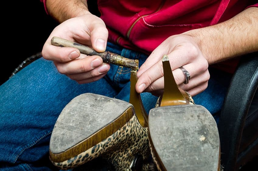 Using Shoe Glue
