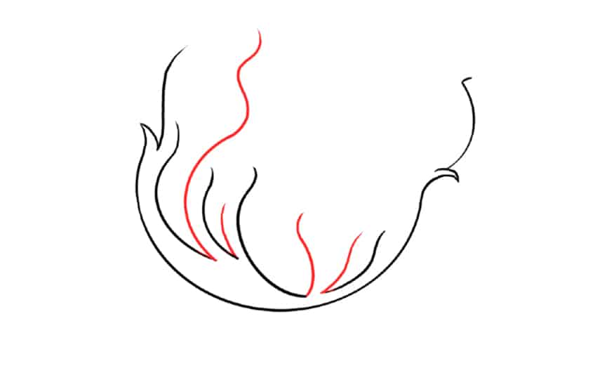 flame drawing step4