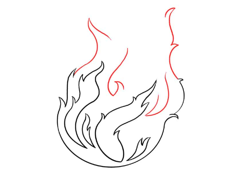 flame drawing step5