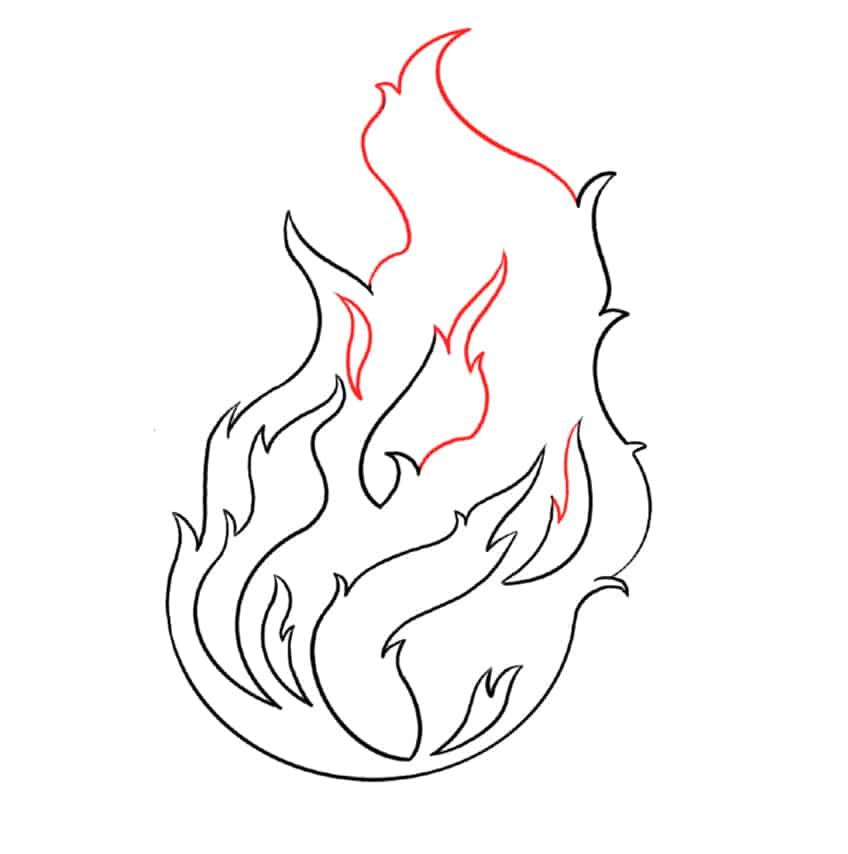 flame drawing step5a