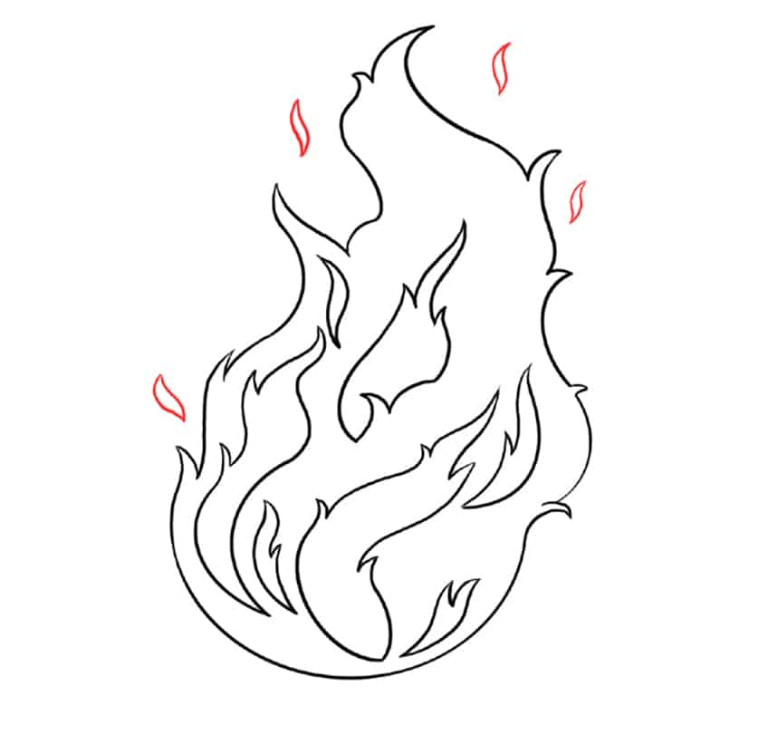 flame drawing step6