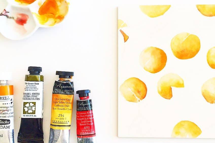 Shades of Orange in Painting