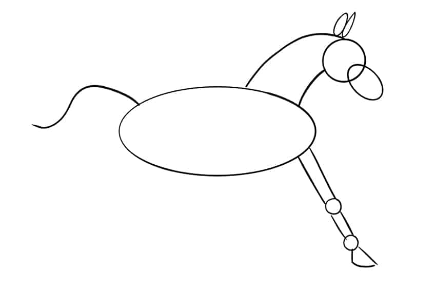 Easy Horse Drawing Step 07