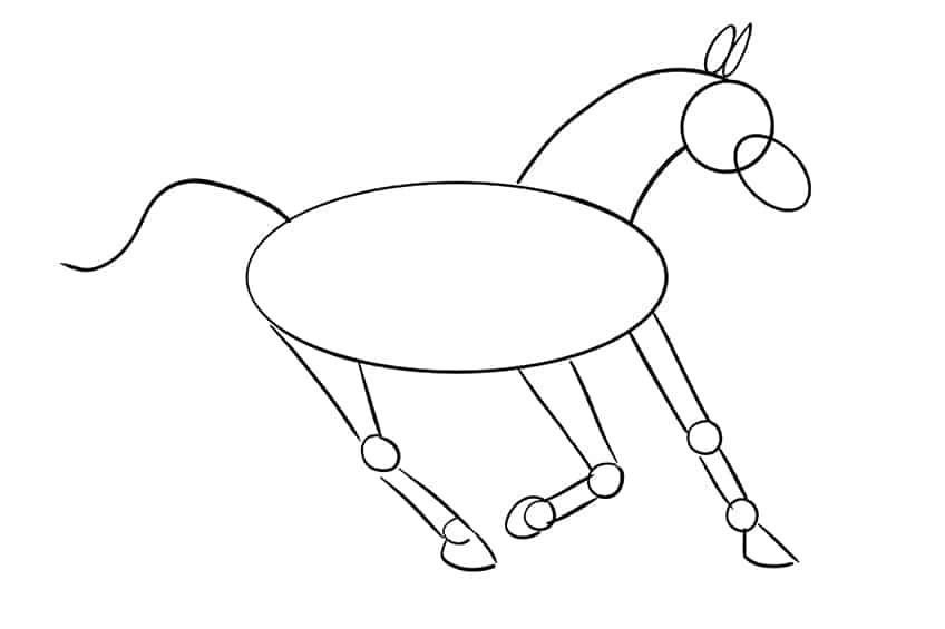 Easy Horse Drawing Step 09