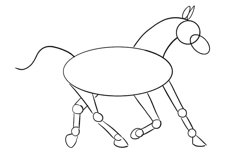 Easy Horse Drawing Step 10