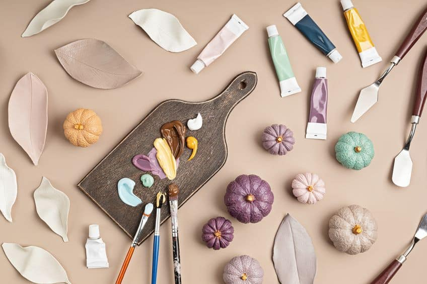 Painting Clay Easily