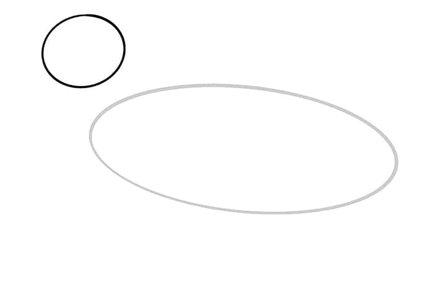 Step 02 of German Shepherd Drawing