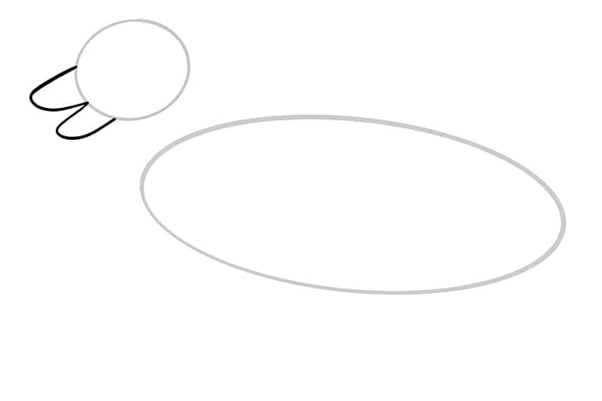 Step 03 of German Shepherd Drawing
